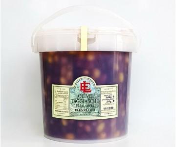 Olive Taggiasche in Salamoia Secchio da 5Kg