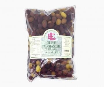 Olive Taggiasche in Salamoia Busta da 500g