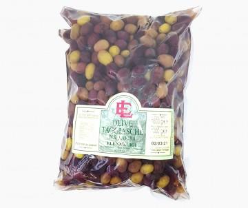 Olive Taggiasche in Salamoia Busta da 1Kg