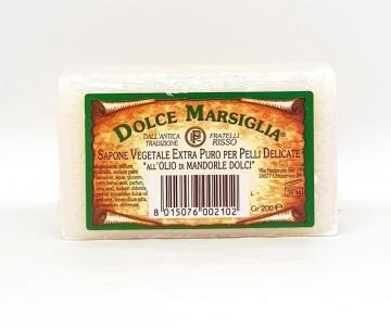 Saponetta di Marsiglia all'Olio di Mandorla 200gr - Fratelli Risso